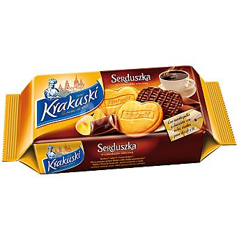 KRAKUSKI Serduska Galletas de importación con chocolate Paquete 143 g