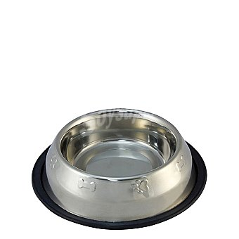 Comedero para Perro Inoxidable Antideslizante Decorado 1,8 l