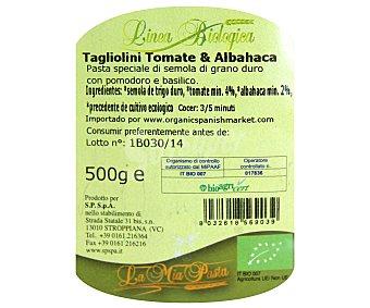 La Mia Pasta Pasta Tagliolinis de tomate y albahaca ecológicos de sémola de trigo duro 500 g