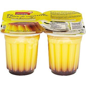 Aliada Flan de vainilla Pack 4 unidades 100 g