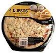 Pizza fresca 4 quesos (emmental,mozarella,grana,cheddar) u 410 g Hacendado