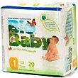Bio Baby Pañal ecológico talla 1 de 20u 3-6kg Moltex