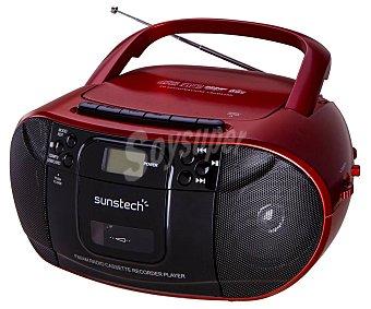 Sunstech Radio CD con cassette radio am/fm, usb, SD, aux-in CXUM52RD