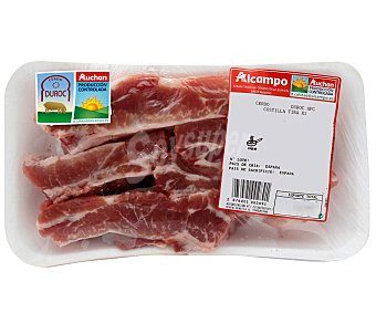 ALCAMPO PRODUCCIÓN CONTROLADA Costillas de cerdo, raza Duroc, cortadas en tiras auchan producción controlada 400.0 Aproximados