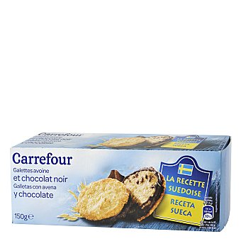 Carrefour Galleta sueca avena chocolate 150 g