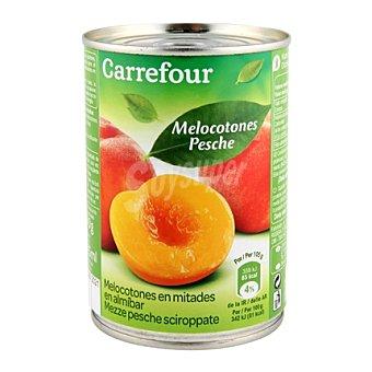 Carrefour Melocotón en almíbar extra 240 g
