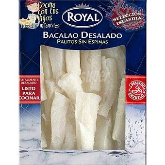 Pescados Royal Palitos de bacalao desalado sin espinas Envase 300 g