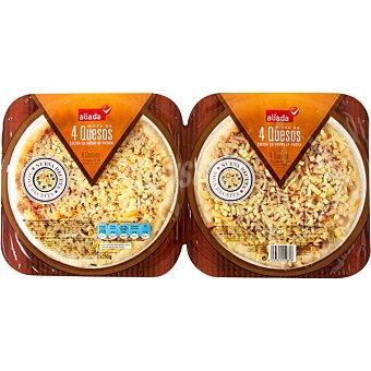 ALIADA Pizza mini dúo 4 quesos envase 220 g