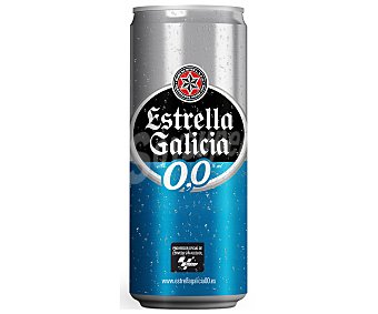 Estrella Galicia Cerveza sin alcohol 0,0 Lata 33 cl