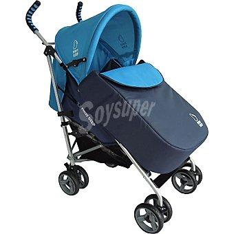 ASALVO silla de paseo con cubrepies en color marino y azul
