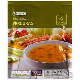 Eroski Sopa de verduras Sobre 57 g
