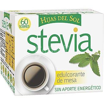 HIJAS DEL SOL Stevia Edulcorante de mesa sin aporte energético Estuche 60 sobres