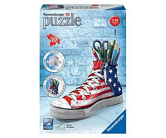 Ravensburger Puzzle en 3 dimensiones modelo Girly Girl zapatilla portalápices, 108 piezas 1 unidad