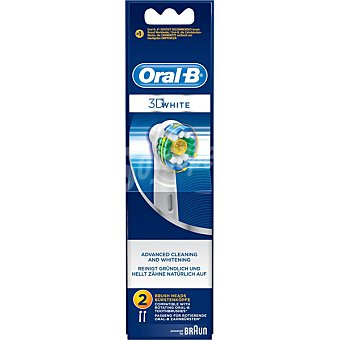 ORAL B recambio de cepillo dental 3D White EB-18 blister  2 unidades