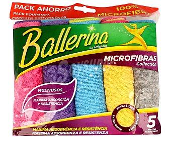 Ballerina Bayetas multiusos de microfibra de diferentes colores 5 unidades