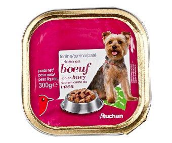 Auchan Comida Húmeda para Perro Gran Menú Buey Tarrina de 300 Gramos