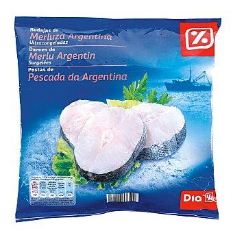 DIA Rodajas de merluza argentina con piel Bolsa de 600 g