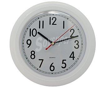 Productos Económicos Alcampo Reloj decorativo de color blanco. Medidas: 23x23x4,1 Centímetros 1 unidad