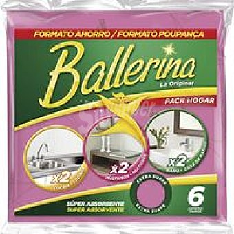 BALLERINA Vim Bayeta Pack 6 unid
