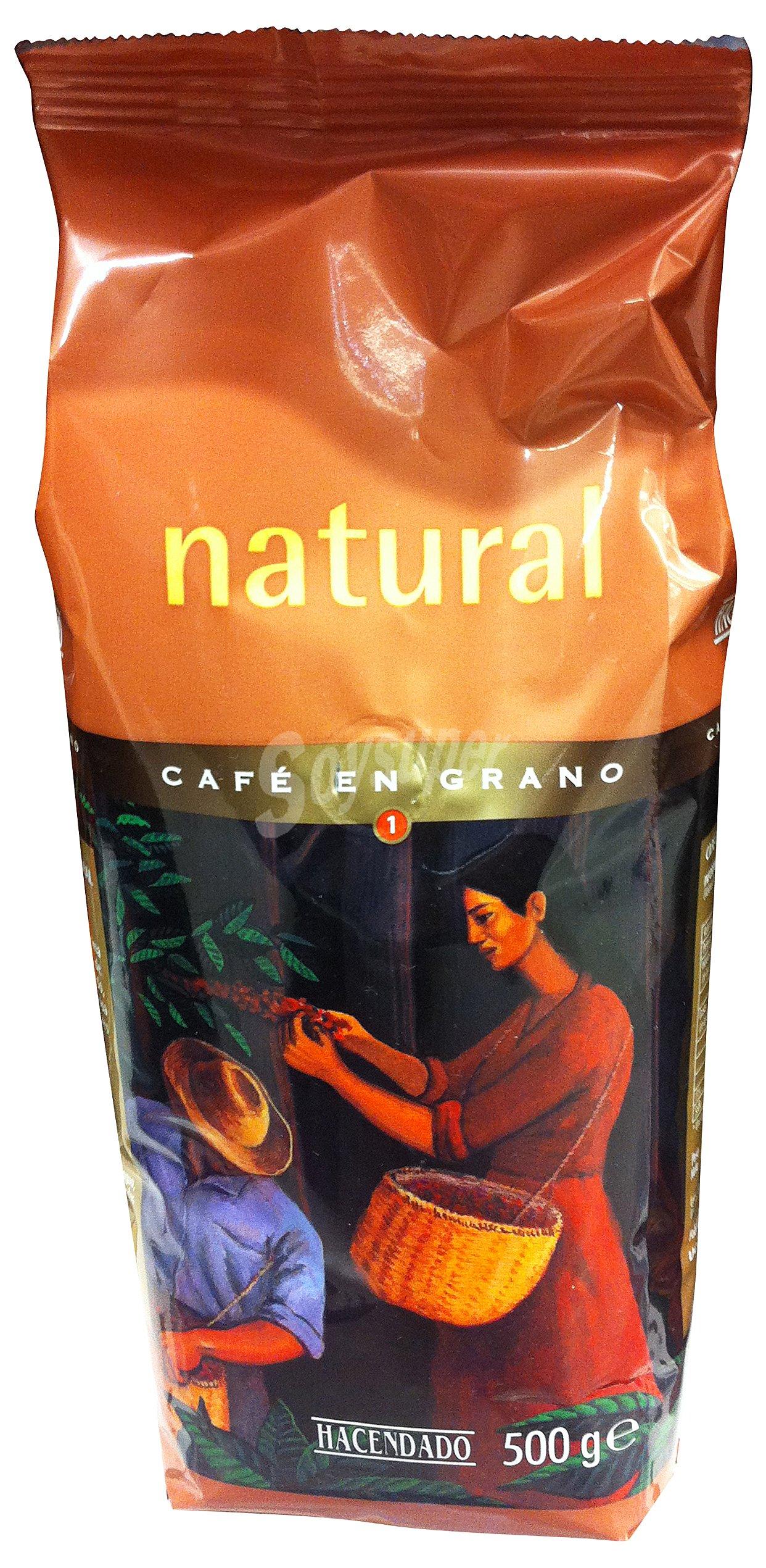 Hacendado Cafe grano natural Paquete 500 g