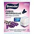 Cubos antipolillas aroma lavanda para armarios y cajones Bolsa 20 unidades Bonodor