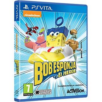 PS VITA Videojuego Bob Esponja, el Héroe  1 Unidad