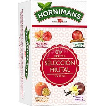 Hornimans Surtido de infusiones selección frutal 5 manzana-canela + 5 melocotón- maracuyá + 5 ciruela - vainilla + 5 frambuesa Estuche 20 unidades