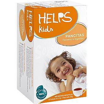 HELPS KIDS Pancitas Infusión infantil facilita la digestión y la eliminación de los gases Estuche 20 bolsitas