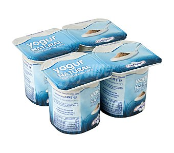 Celgan Yogur natural azucarado Pack 4x125 grs