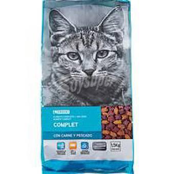 EROSKI Miaow Alimento de carne-pescado para gato Saco 1,5 kg