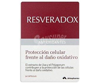 RESVERADOX Antioxidantes protección celular frente al daño oxidativo con resveratrol 30 C