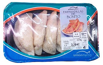 UNION MARTIN Empanadillas frescas de bonito prefritas Bandeja de 300 g peso aprox. (5 unidades)