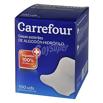 Carrefour Gasas Esteriles 100 ud