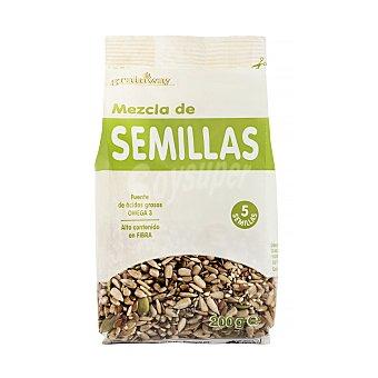 Grainway Mezcla de semillas (sésamo, lino marrón, semillas de amapola y pipas de girasol y calabaza) Paquete de 200 g