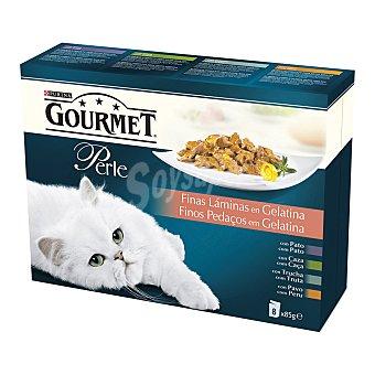 Purina Gourmet Finas láminas en gelatina para gatos  Pack 8 x 85 g