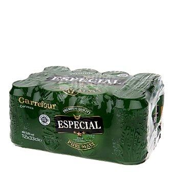 Carrefour Cerveza especial Pack de 12x330 ml