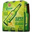 Cerveza sabor limón Pack 6x33 cl Superbock green