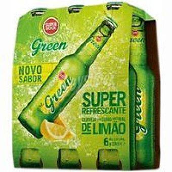 Superbock green Cerveza sabor limón Pack 6x33 cl