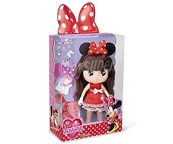 Disney Muñeca I Love Minnie con Vestido de Fiesta y Accesorios 1 Unidad