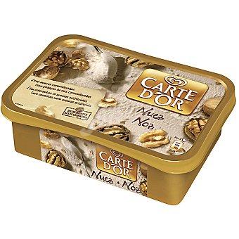 FRIGO CARTE D'OR Helado de nuez con trocitos de nueces caramelizadas Tarrina 1 l