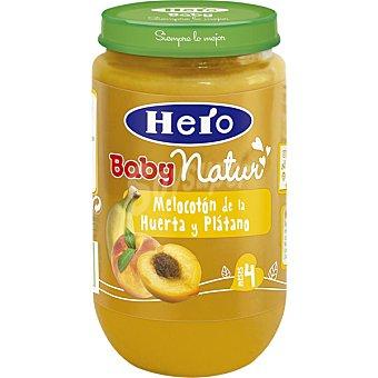 Hero Baby tarrito de melocotón de la huerta y plátano Natur envase 235 g