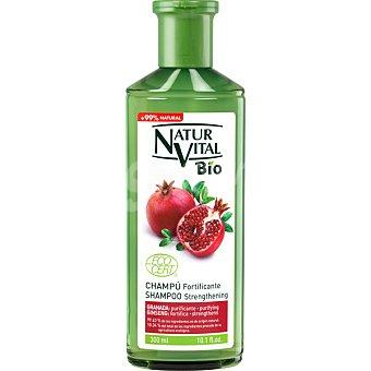 Natur Vital Champú Bio Fortificante con Granada y Ginseng purifica y fortifica frasco 300 ml