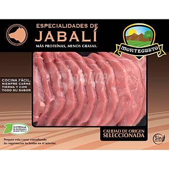 MONTEGUSTO Filete de pierna de jabali sin gluten peso aproximado bandeja 400 g Bandeja 400 g