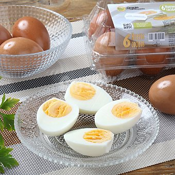 Huevo cocido 6 ud