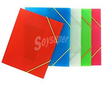 Grafoplás Carpeta de polipropileno translucido de varios colores tamaño A5 grafoplas