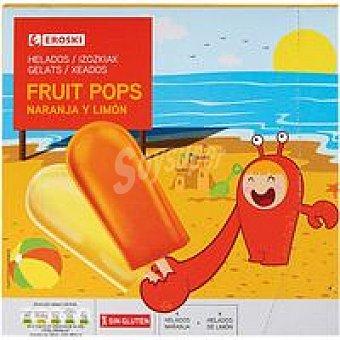 Eroski Mini polo de naranja-limón Pack 8x60 ml