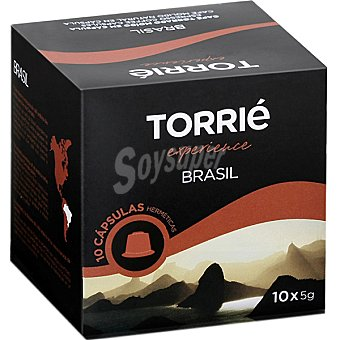 TORRIE Experiencie Brasil Café ápsulas estuche 50 g 10 c
