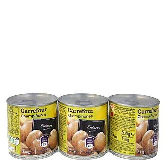 Carrefour Champiñones enteros Carrefour Pack 3x115 g