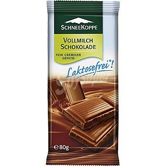 SCHNEEKOPPE chocolate con leche sin lactosa envase 80 g