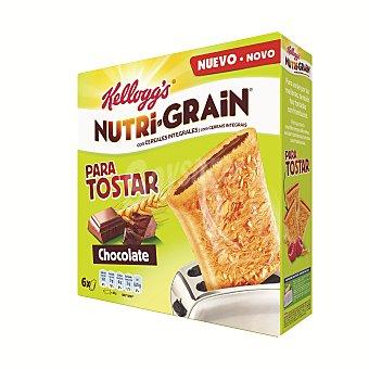 Nutri Grain Kellogg's Nutri Grain Para tostar chocolate 6 unidades